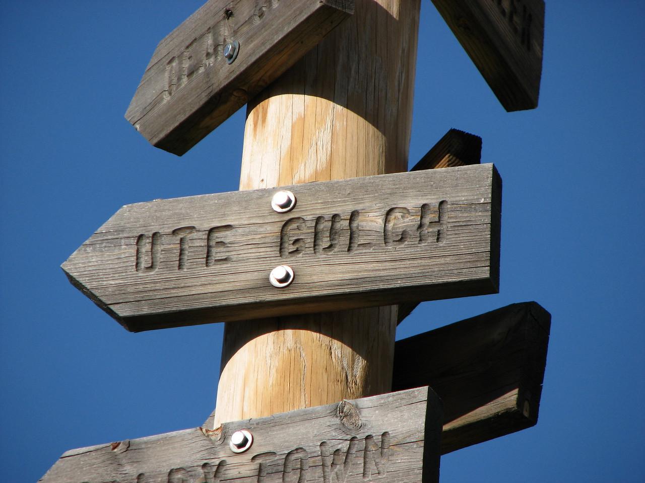 The sign at base camp